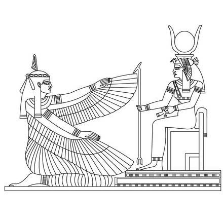 egyptian deities coloring pages | AFRIKA | Pinterest | Cultura
