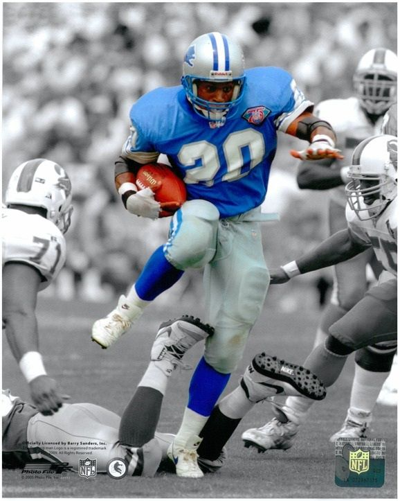 20 Barry Sanders BARRY My Favorite Lion Of All Time Go
