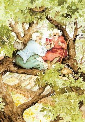 Barfota i gummornas trädgård! | Illustratörer, Illustration