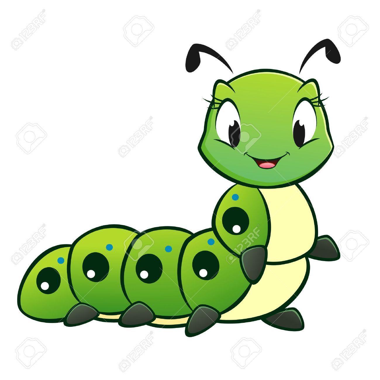 Cartoon Vector Cute Caterpillar Affiliate Vector Cartoon