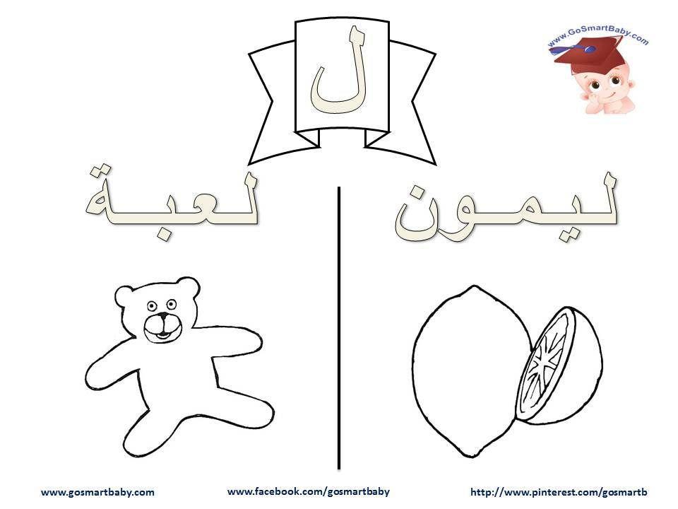 التلوين Arabic Alphabet Letters Arabic Worksheets Lettering Alphabet