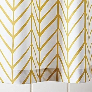 Mustard Feather Shower Curtain Serena Lily