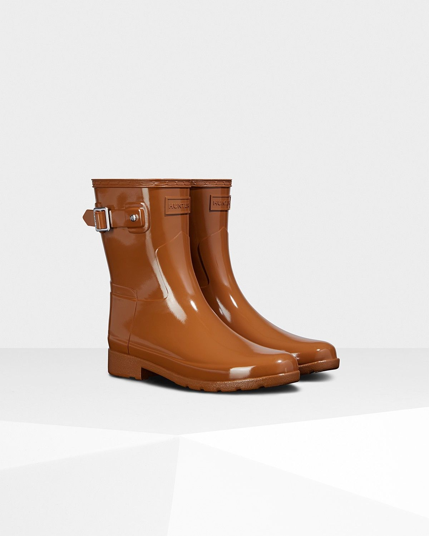096ae5ebcb1 Hunter Women s Original Leopard Print Lining Refined Short Rain Boots   Thicket - Us 10