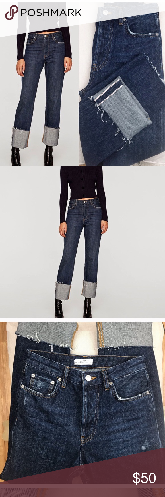 93f1b297 Zara Woman Raw Edge Jeans High Waist Excellent condition. I love these but  they are