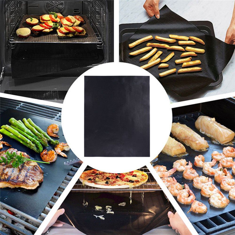 Kitchen Copper Chef 1pc Bbq Grill Mat Sheet Reusable Resistant Non Stick Barbecue Baking Bake Meat 40x33x0 02cm H Cooking Mat Bbq Grill Mats Cooking And Baking