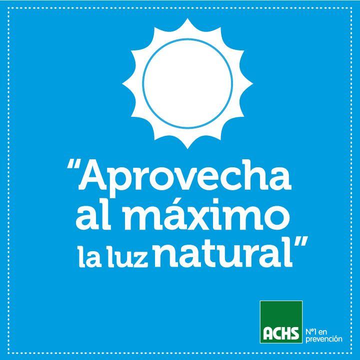 Aprovecha la luz natural masprevencion medioambiente - Luz y ambiente ...