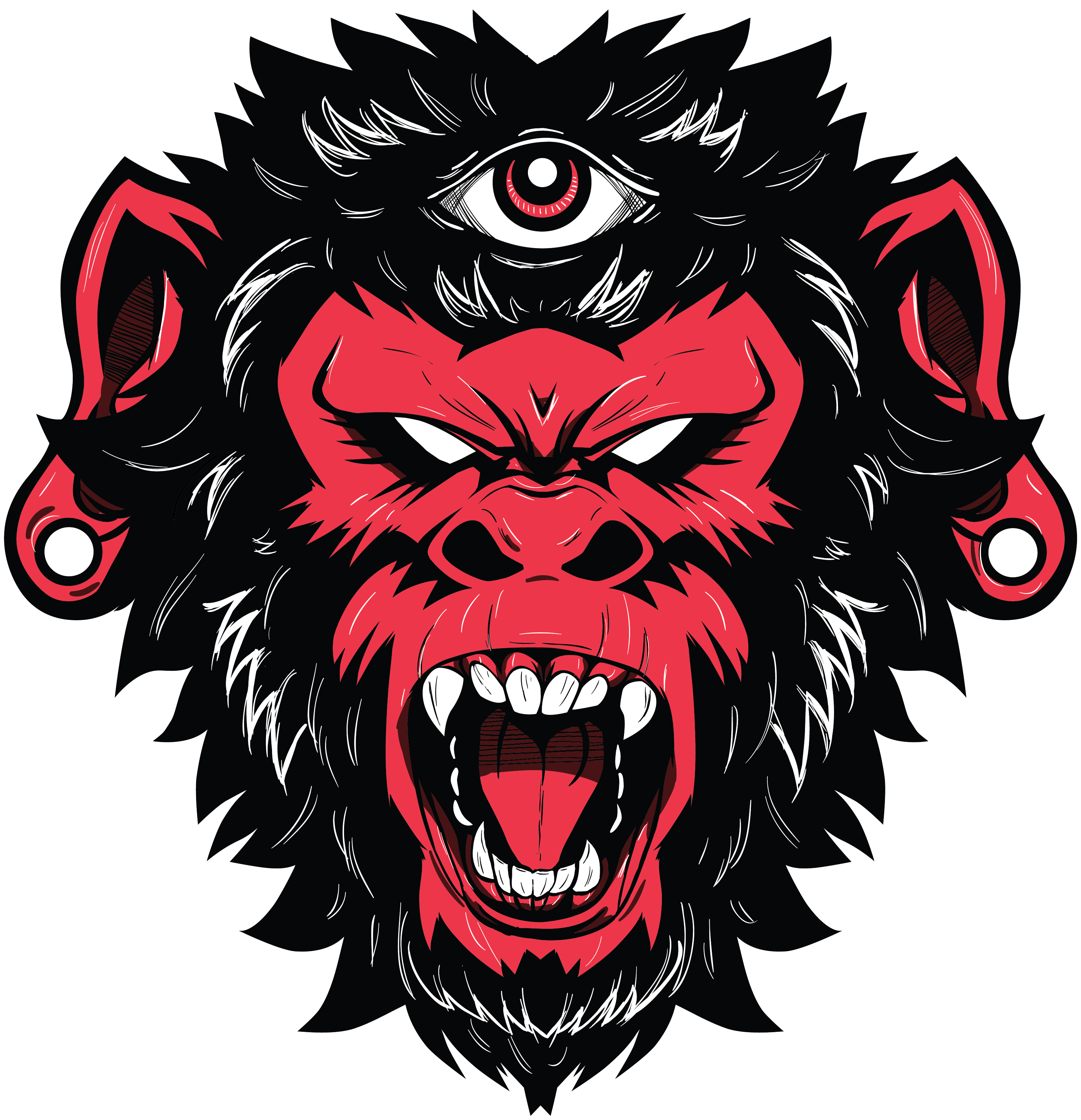 0d041290 Demon Monkey vector illustration / t shirt design | Inspiration in ...