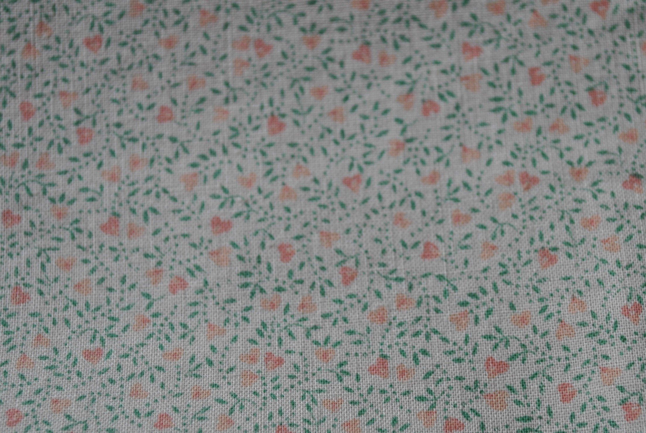Tiny Spring Floral Calico Classic Cottons Fabric Teal Pink White  By The Yard