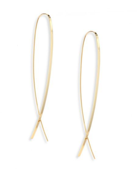 Lana Jewelry 14k Flat Hoop Earrings 9MlOXUq