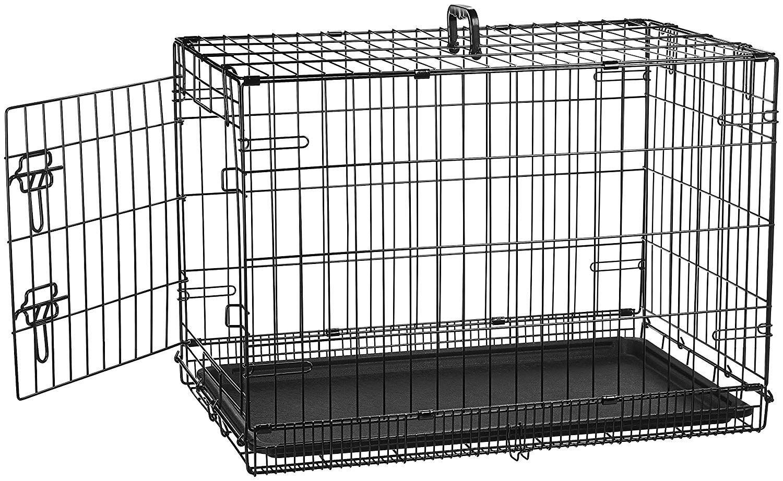 Amazon Com Amazonbasics Single Door Folding Metal Dog Crate 30 Inches Pet Supplies Pet Crate Dog Crate Crates