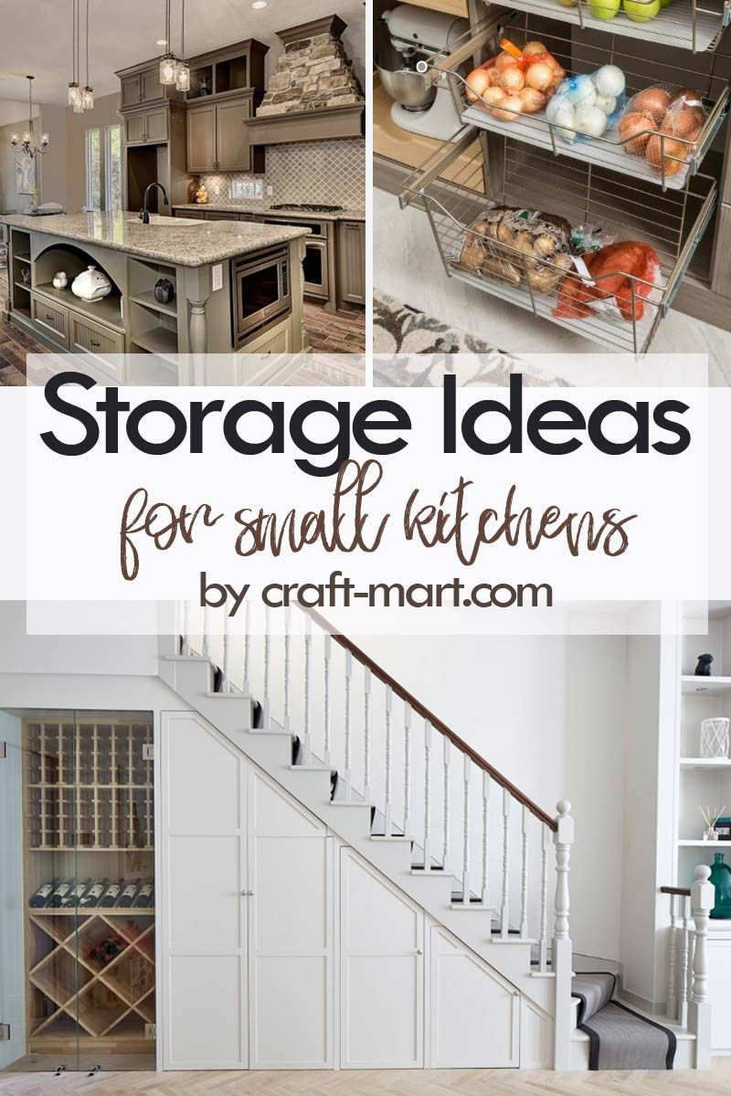 14 Clever Storage Ideas For Small Kitchens Craft Mart Kitchen Island Storage Clever Storage Small Kitchen Storage