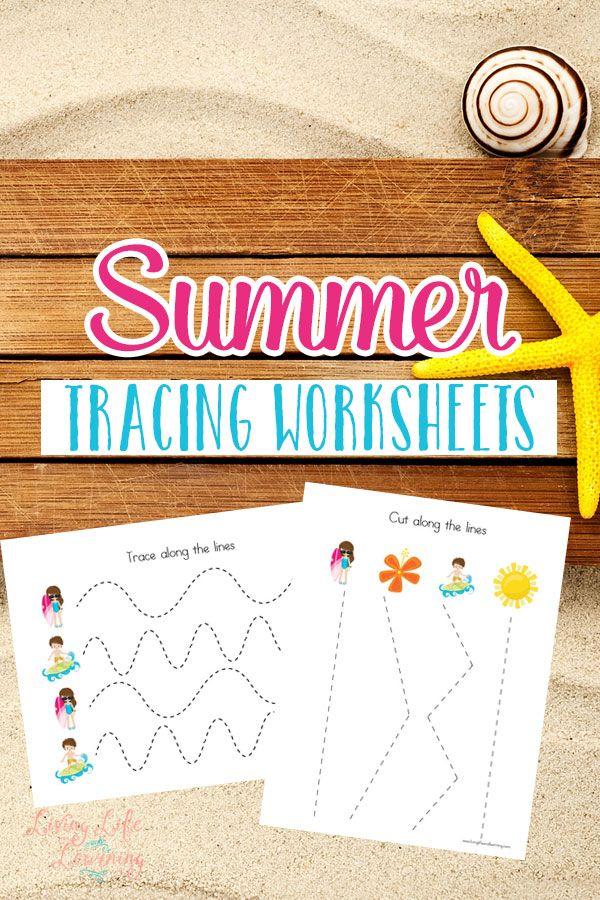Summer Tracing Worksheets | Kind
