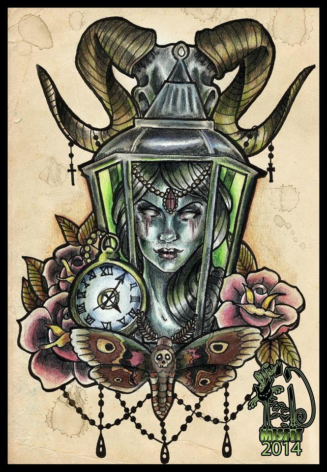 0460161d2 tattooflash #tattoodesign #horror #macabre | Cartoon Dolls/Pin-Ups...