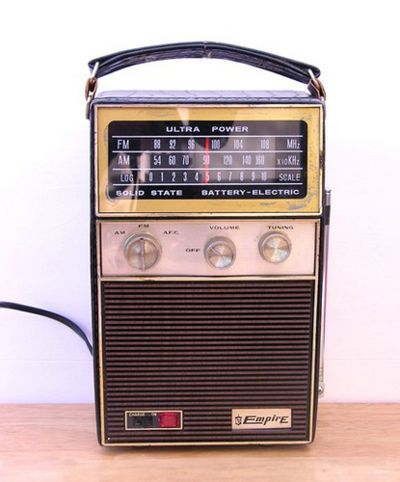 "Old transistor radio.  We had this when we moved into our ""new"" house back in 19970."