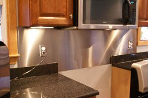 sheet metal back splash Things Billie can make herself