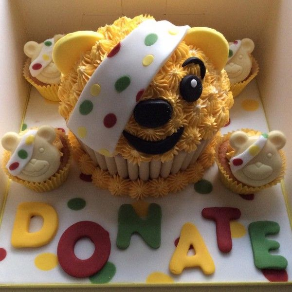 Giant Cupcake Cake Pudsey Children In Need Children In Need