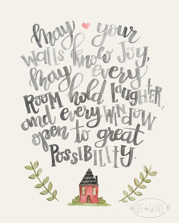 May Your Walls Know Joy Irish Blessing Hand Lettered - House Prayer ...