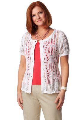 Crochet front cardigan