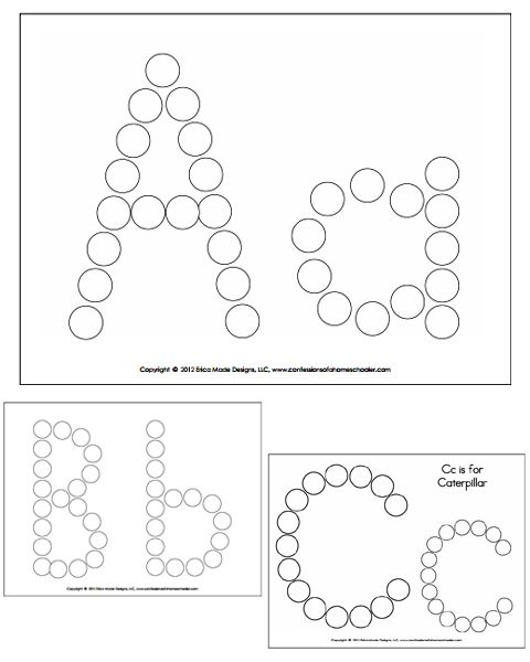 Alphabet Do A Dot Worksheets Abc Coloring Pages Dot Worksheets Do A Dot Alphabet Preschool