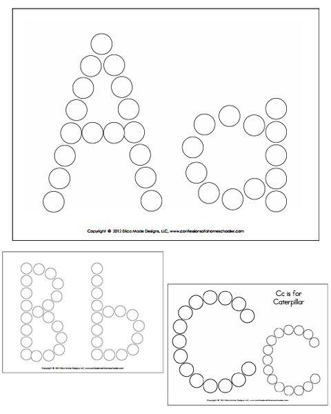 Alphabet Do A Dot Worksheets Preschool Classroom