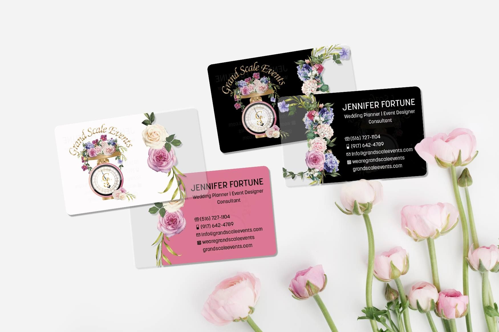 Transparent Business For A Wedding Consultant Clear Business Cards Transparent Business Cards Plastic Business Cards