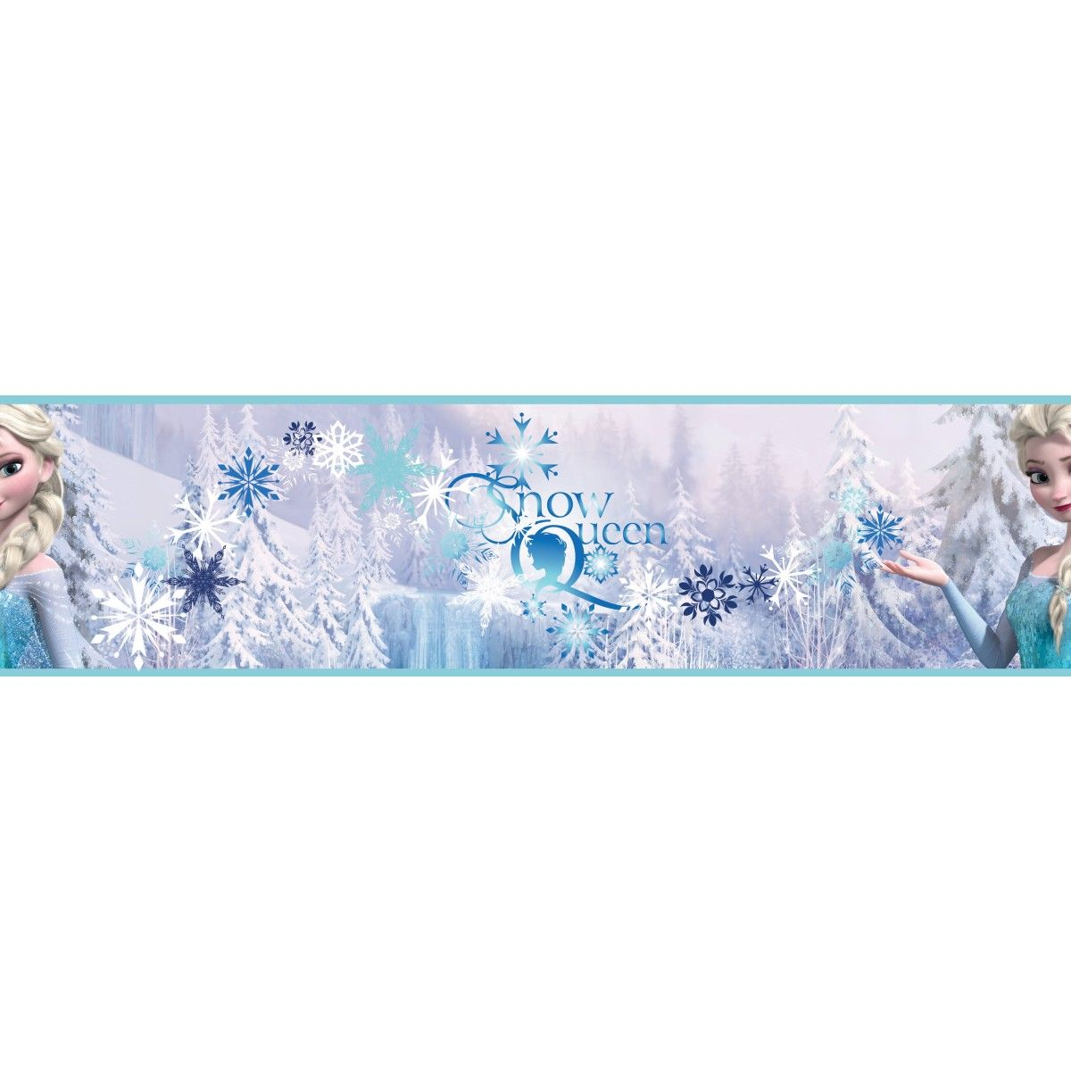 Disney Frozen Snow Queen Wallpaper Border 5m Disney