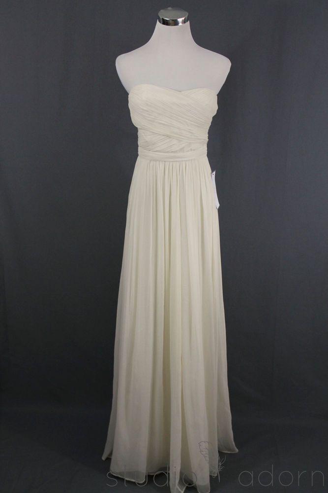New j.crew arabelle gown $575 wedding dress formal bridal ivory 8 ...