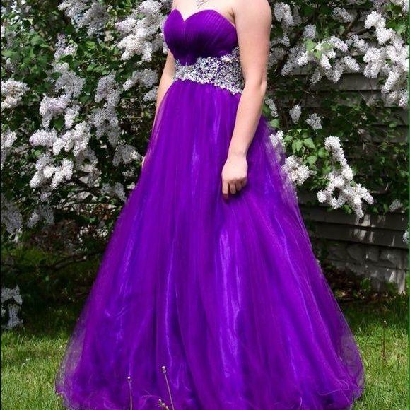 Royal Purple Cinderella Prom Dress My Posh Picks Pinterest