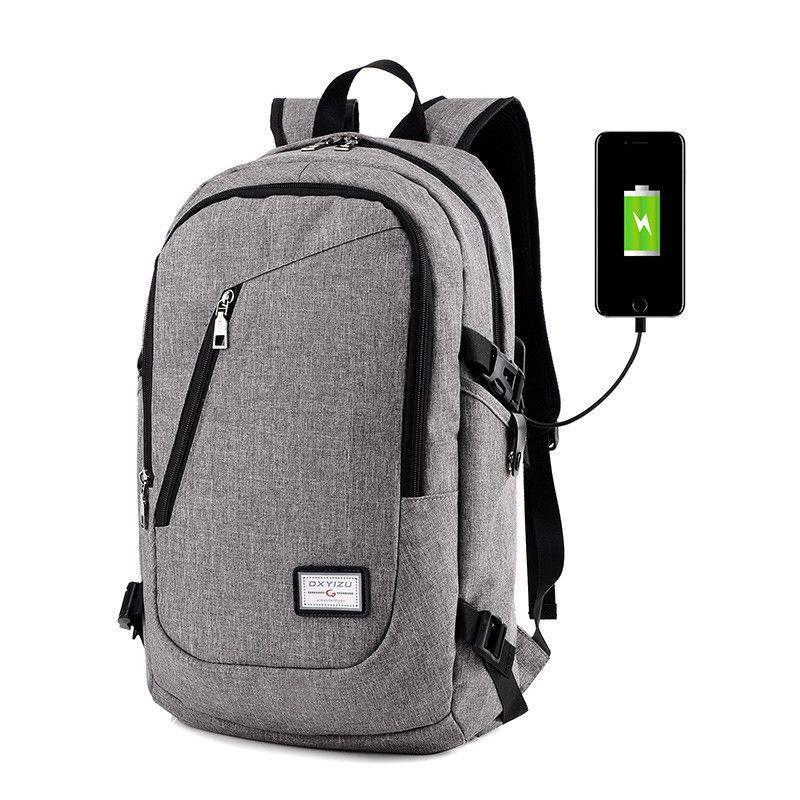 Men Polyester Solid Big Shool Book Backpack For Teenager Preppy Style Boy Back Shoulder Bag