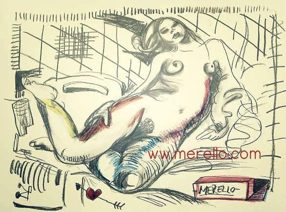 "UN PÉTALO. UNA FLOR.  Jose Manuel Merello.- ""Nude.""  ARTE MODERNO. http://www.merello.com"