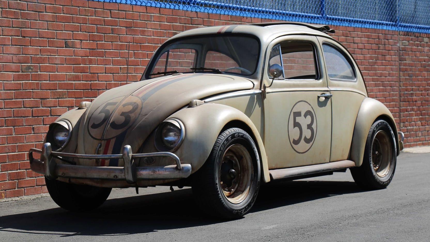 Auction Lot F138 Monterey Ca 2018 Junkyard Herbie Hero Car From The 2005 Movie Herbie Fully Loaded With Bevy Of Herb Volkswagen Beetle Volkswagen Beetle [ 936 x 1664 Pixel ]