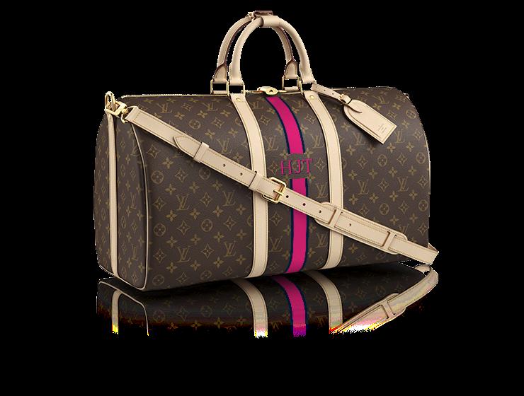 Louis Vuitton Keep All Bandolier 50 Mon Monogram Personalised