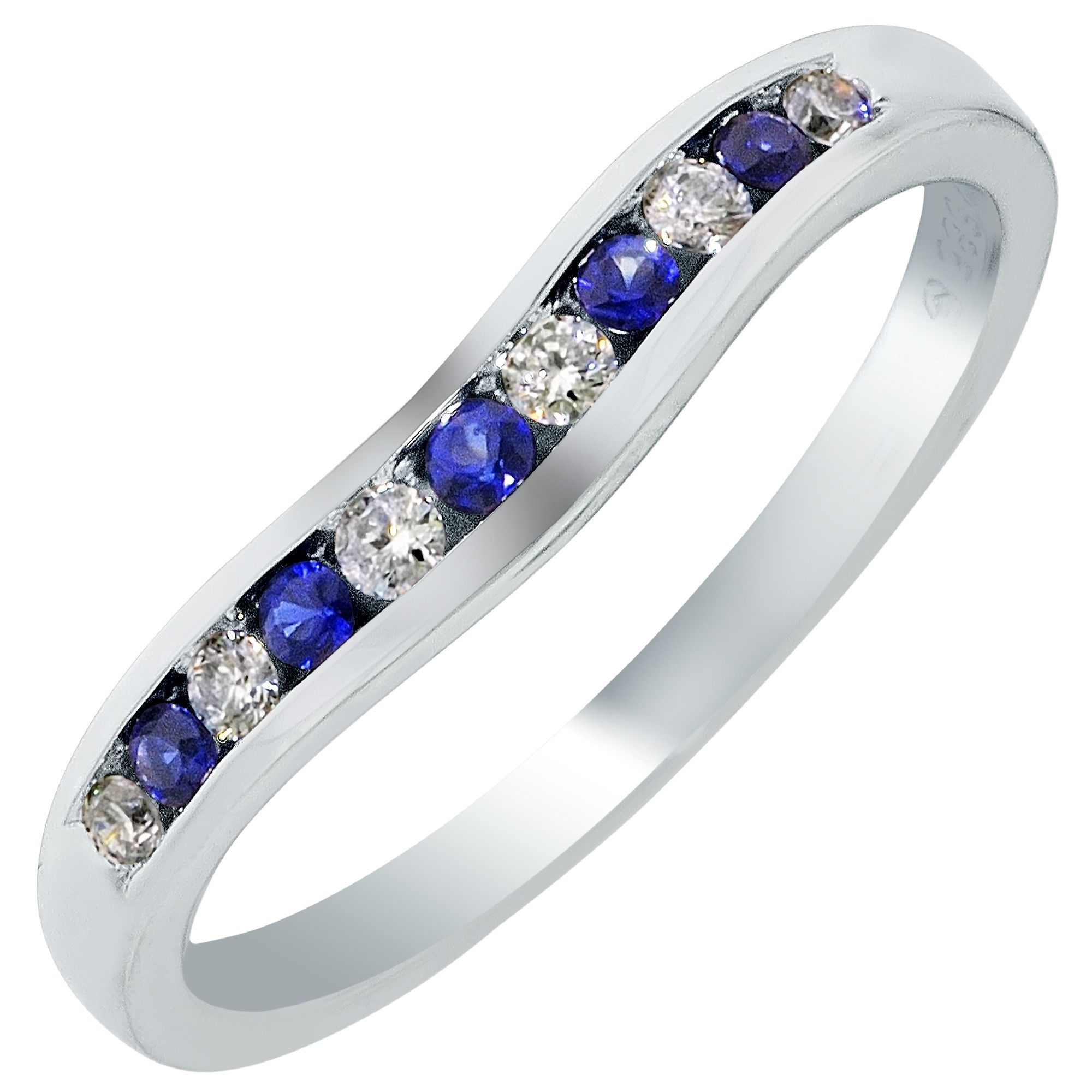 curved wedding bands inside estate curved diamond platinum