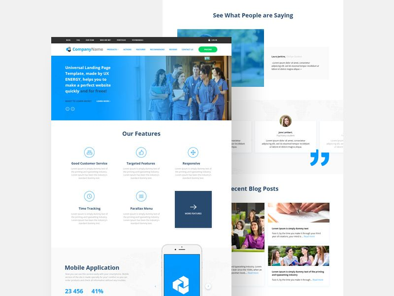 Startup Website Landing Page Template Portfolio Pinterest - Website landing page templates