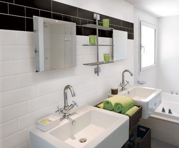 feng shui noir et blanc 4x16 c ramique murale salle de bain d coration maison et salle. Black Bedroom Furniture Sets. Home Design Ideas