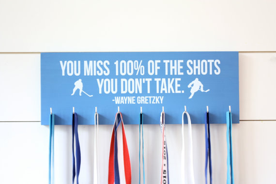 Hockey Medal Holder  You miss 100% of the shots by YorkSignShop