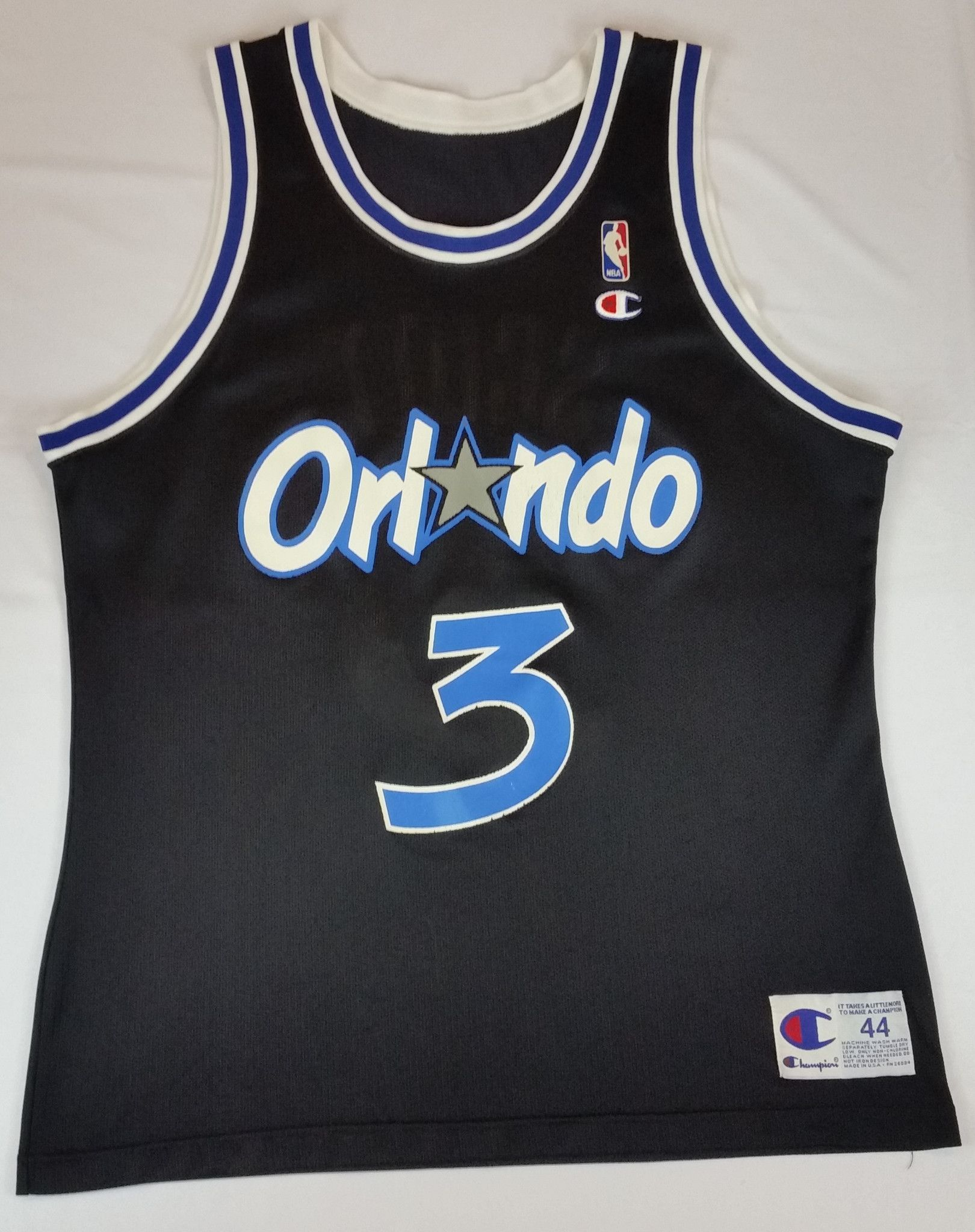 aeefab93f63 Dennis Scott  3 Champion Jersey Vintage Orlando Magic NBA Rare Alternate  Mens 44