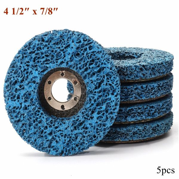 5pcs 110mm Polycarbide Abrasive Stripping Disc Wheel Rust And Paint ...