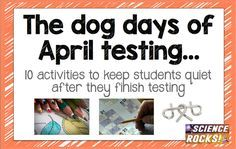 10 activities to keep students quiet after testing