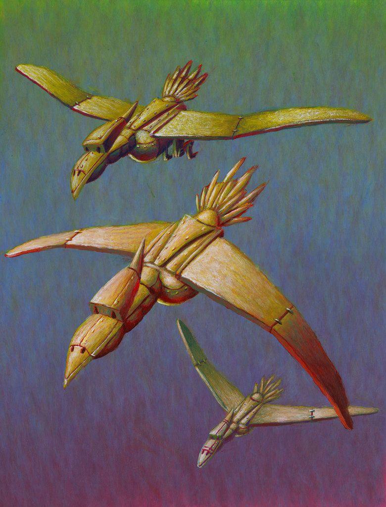 Les Oiseaux Du Lac Stymphale : oiseaux, stymphale, Stymphalian, Birds, Solidevo, DeviantART, Deviantart,, Illustration,