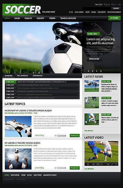 Soccer Drupal Template Pinterest Drupal Template And Sports Website - Soccer website templates