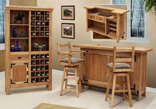 Muebles para un bar dentro del living room sala de estar for Bar madera pequeno