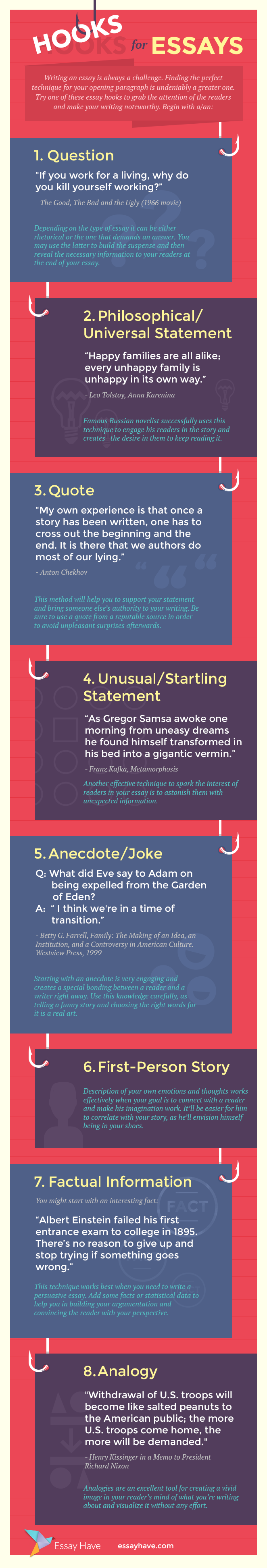 essay hooks infographic infographic education infographic and  good essay introductons this handout explains the functions of introductions your entire essay will be a response to this so it is a good idea to use the