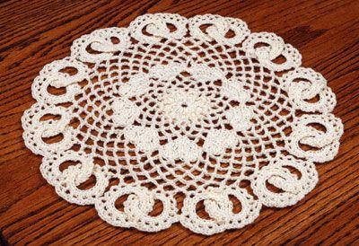 White Ruffles Doily Topper Elegant Ruffles crochet pattern leaflet