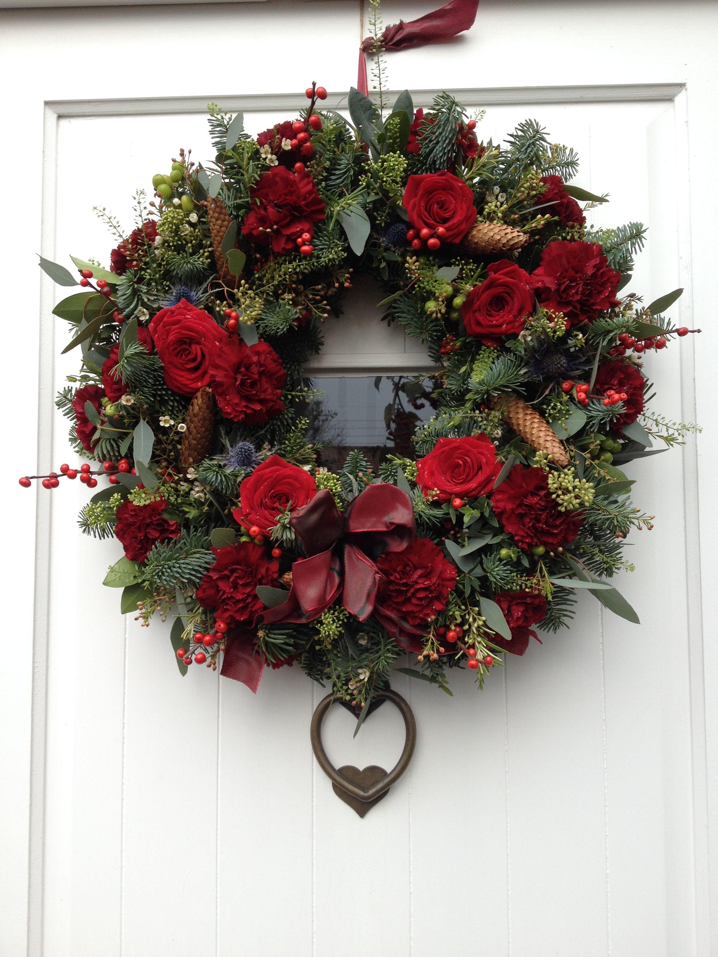 Delicious Truly Sumptuous Door Wreath Fresh Flowers