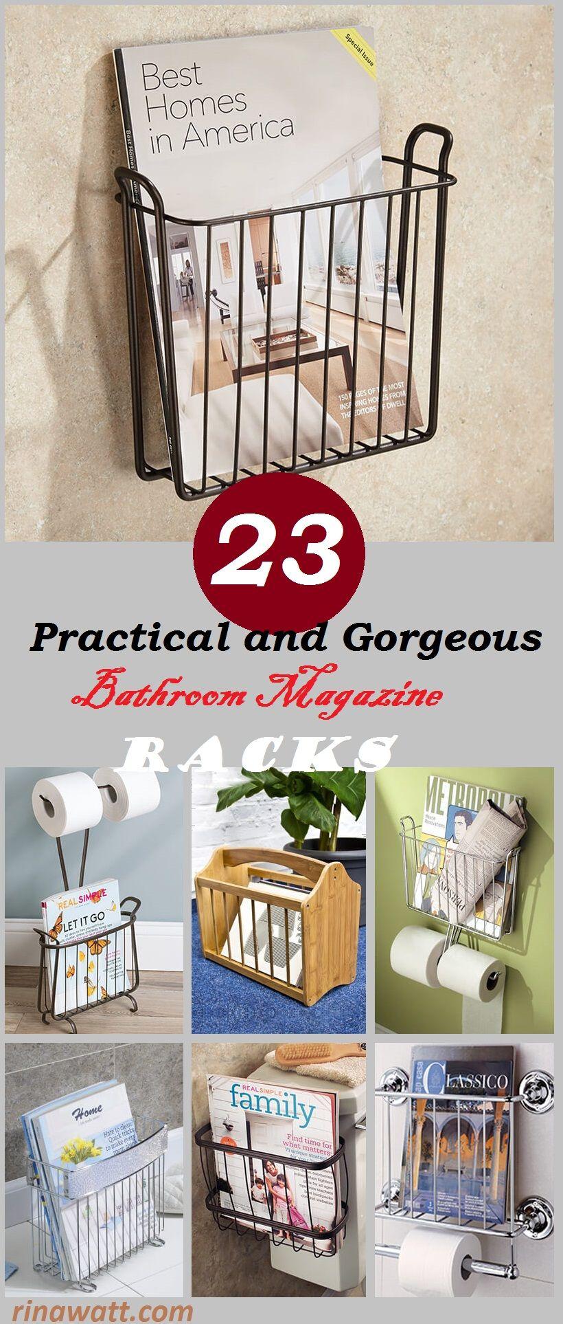 23 Practical And Gorgeous Bathroom Magazine Racks You Will Love Rina Watt Blogger Hom Bathroom Magazine Holder Gorgeous Bathroom Industrial Bathroom Design