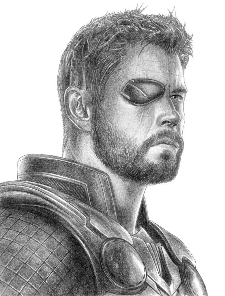 Thor Avengers Infinity War By Soulstryder210 Marvel Drawings