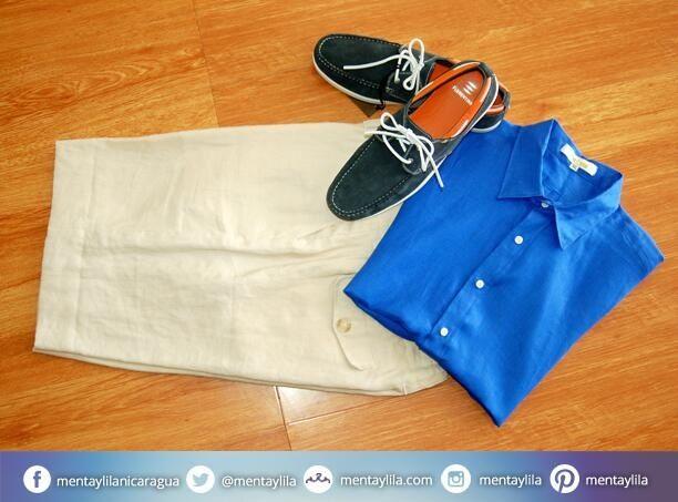 Disponible para papá: Camisas y shores de lino más bellos zapatos de Florentino, sólo en Menta y Lila.