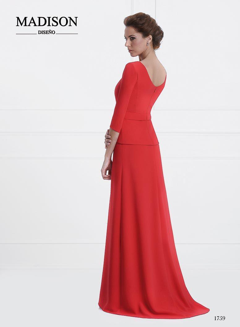 vestido boda largo color rojo | vestido madre de la novia ...