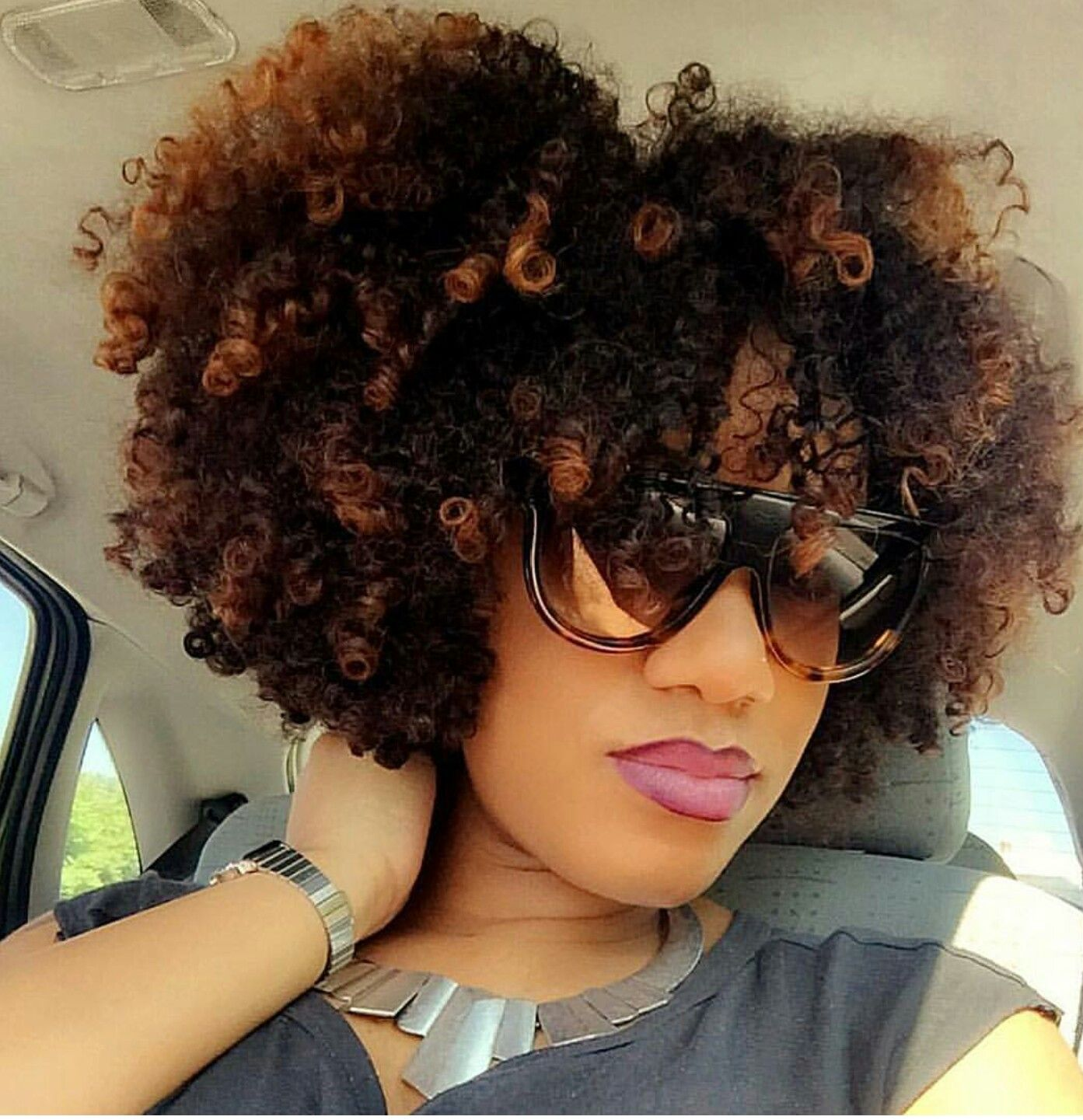 Frosted Tips Curly Hair Styles Naturally Beautiful Natural Hair